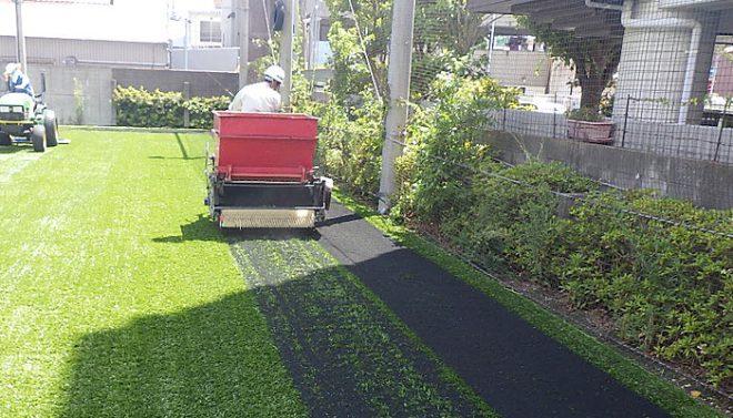 人工芝張替え工事