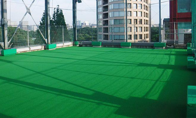 屋上人工芝敷設