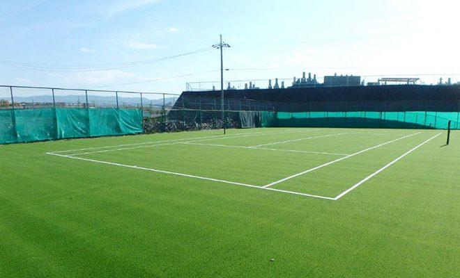 テニスコート改修