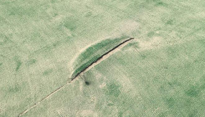 破れた人工芝