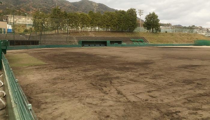 着工前の野球場
