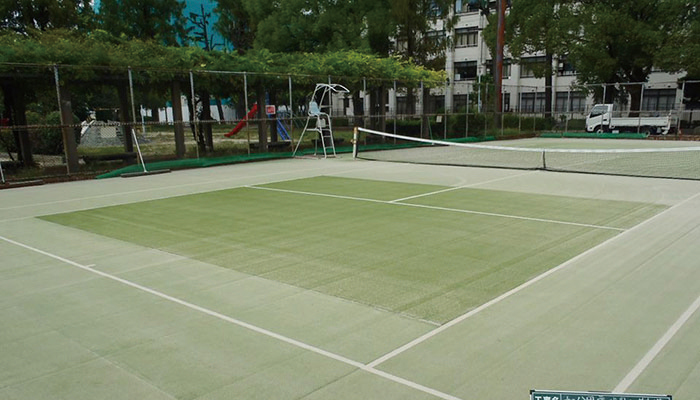 テニスコート 人工芝 部分補修